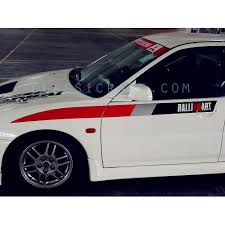 Ralliart Extreme Thunder Side Stripe Decal X 1 Pair Lhs Rhs