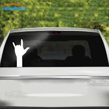 10 16cm Ily Love Hand Sign Language Silhouette Vinyl Car Window Decal Decor Ipad Laptop Decals I Love You Art Sign L765 Car Stickers Aliexpress