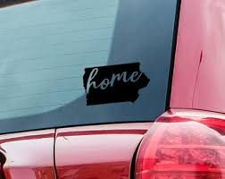 Home Iowa Decal Etsy