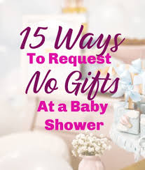 baby shower no gifts necessary or