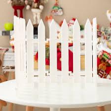 White Plastic Fence Fence Christmas Decorations Shopee Philippines