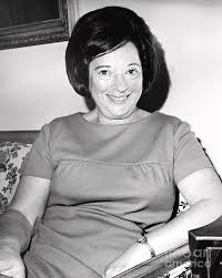 Mrs. Abraham Beame smiles for the camera. 1965 Photograph by Anthony  Calvacca