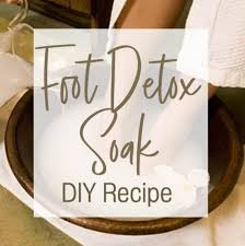 homemade foot soak diy foot detox