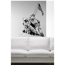 Shop American Flag Marines Soldier Wall Art Sticker Decal Overstock 11850079