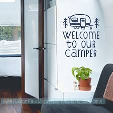 Jazz Up Your Camper And Give It A Welcoming Look By Adding Rv Camper Stickers To The Walls Wall Decals Make Vinyl Art Stickers Wall Vinyl Decor Camper Decor