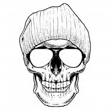 cool skull engraving ilration