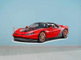 Car Art Ferrari Sergio Wall Decal Let S Print Big