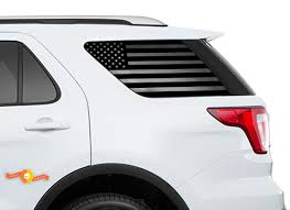 Product 2011 2018 Ford Explorer Sport Usa Flag Windshield Decals For Rear Windows Stickers