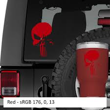 Netflix Punisher New Skull Vinyl Decal Jeep Wrangler Decal