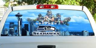 Seattle Seahawks Rear Window Perf View Thru Decal Customed To Fit Your Car 1753179952