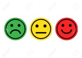smileys vert jaune rouge positif