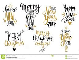 happy new year calligraphy set stock vector illustration of