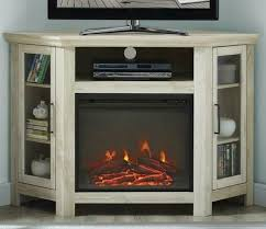 corner fireplace tv stand rustic 48