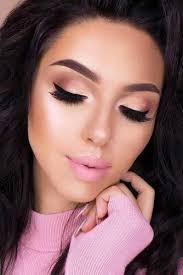 homecoming makeup for pink dress