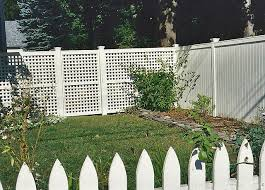 Wood Vinyl Lattice Fence Variations Boston Ma Homes Businesses Tennis Courts Gardens Patios