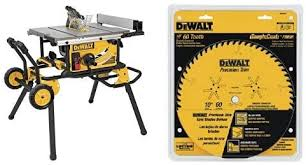 The 10 Inch Dewalt Dwe7491rs Jobsite Table Saw With 32 1 2 Inch Rip Capacity And Rolling Stand Review The Home Guide