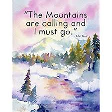 com watercolor art print nature scene john muir
