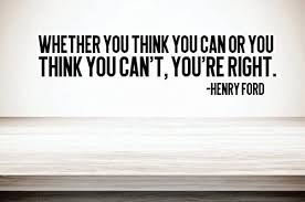 Amazon Com J Mikgony Llc Whether You Think You Can Or You Think You Can T You Re Right Henry Ford 5 X 20 Wall Decal Inspirational Wall Quotes And Sayings Home Decor
