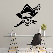 Artistic Pirate Wall Decals Vinyl Stickers For Living Room Bedroom Office Decoration Home Decor Wish