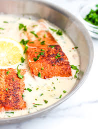 Pan Seared Salmon in Lemon Cream Sauce ...
