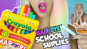 diy dye your hair with supplies