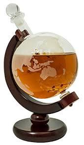 world globe whisky decanter whisky nips