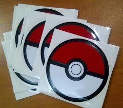 Pokemon Go Pokeball Sticker Vinyl Decal Car Laptop Window Etsy