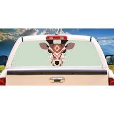 Aztec Deer Rear Window Graphic Truck View Thru Vinyl Decal Back Walmart Com Walmart Com