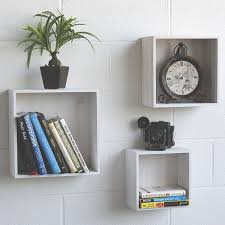 Buy Wallniture Modern Home Decor Cube Storage Box Nesting Floating Shelves Set Of 3 Washed White In Cheap Price On Alibaba Com