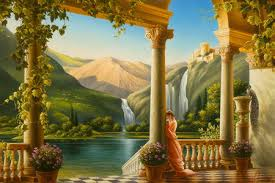 peaceful scene mounns nature