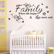 Love Never Fails Decal Wall Sticker Home Decor Inspirational Vinyl 13 X 22