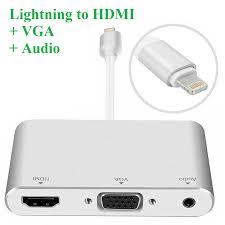 Cáp Lightning to HDMI + VGA cho iPhone / iPad