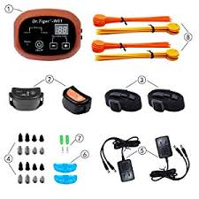 Dr Tiger 1 Receiver Electric Dog Fence With Rechargeable Shock Collar Wire In Ground Dog Or