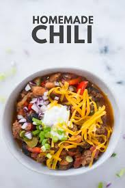 how to make homemade chili easy