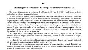 Decreto 26 aprile in Gazzetta ufficiale: la versione integrale in ...
