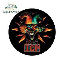 Earlfamily 13cm X 13cm For Insane Clown Posse Icp Star Jester Car Sticker And Decals Vinyl Car Wrap Bumper Decoration Waterproof Car Stickers Aliexpress