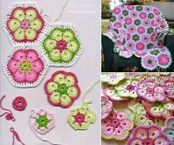 crochet african flower blankets free