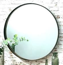 wall mirror black metal frame