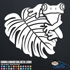 Tree Frog On A Leaf Car Window Decal Sticker Herpetology Decals