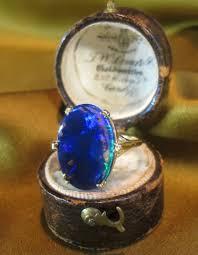 black opal solid vintage ring rose gold