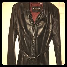 wilson leather belted jacket