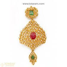 22k gold uncut diamond pendants indian