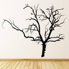 Creepy Bare Tree Halloween Wall Sticker Ws 17103 Ebay