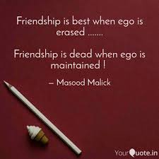 friendship is best when e quotes writings by masood ck