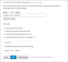 7 4 chemical equation problem