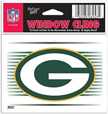 Amazon Com Green Bay Packers Nfl 3x3 Static Window Cling Decal Sports Fan Wall Decor Stickers Sports Outdoors