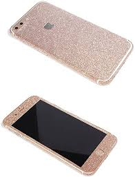 Amazon Com Iphone 7 Plus Bling Skin Sticker Supstar Full Body Coverage Glitter Vinyl Decal Dustproof Anti Scratch For Apple Iphone 7 Plus Champagne Gold