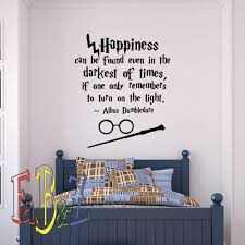 Harry Potter Wall Decal Quote Happiness Can Be Found Even Hogwarts Wall Decals Vinyl Stickers Nursery Teens Room Decor Vinyl Lettering Q054 Amazon Com