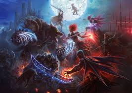 images magic swords monsters warrior
