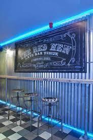 bar design corrugated metal wall lights